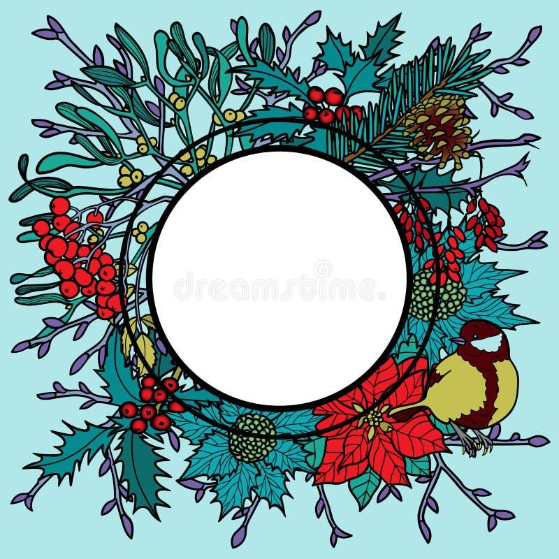 Zimy Kolorowa rama royalty ilustracja