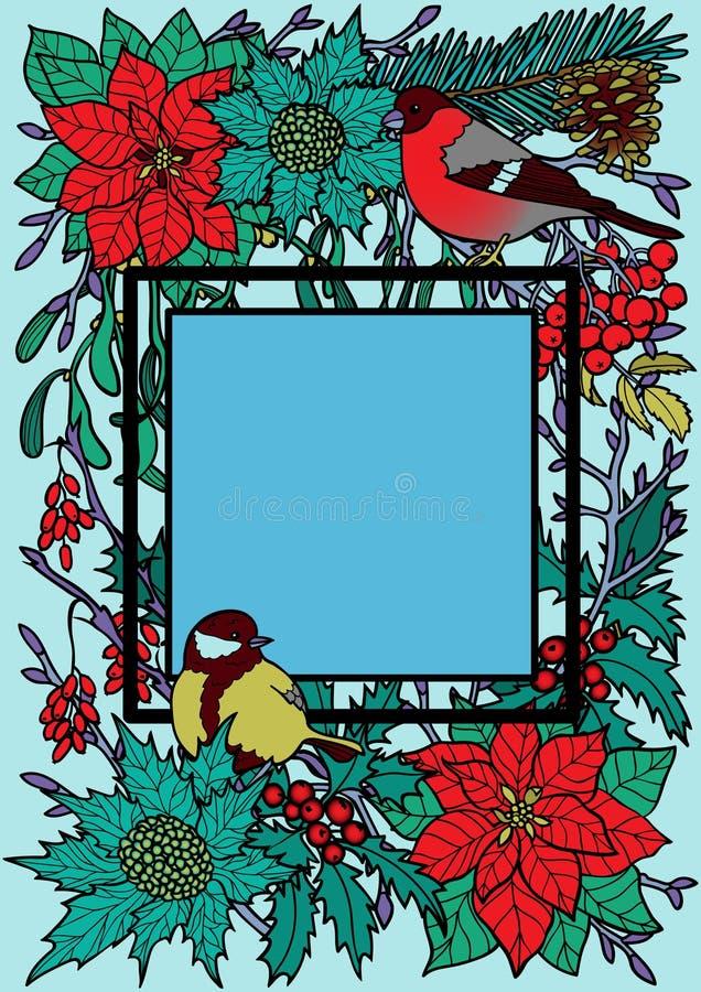 Zimy Kolorowa rama ilustracji