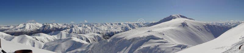 Zimy kraina cudów na górze światu zdjęcie royalty free
