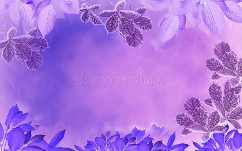 Zimy magii purpury ilustracji