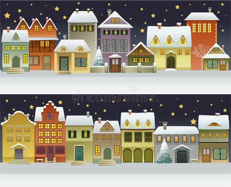 Zimy miasteczko ilustracji