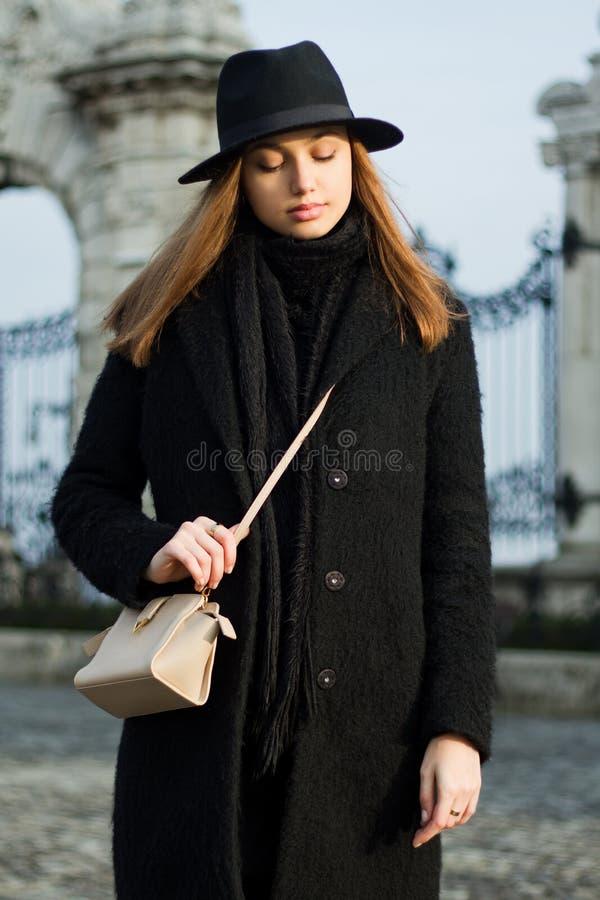 Zimy mody piękno obraz royalty free