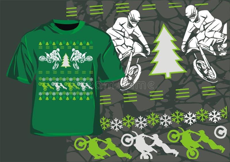 Zimy motocross royalty ilustracja