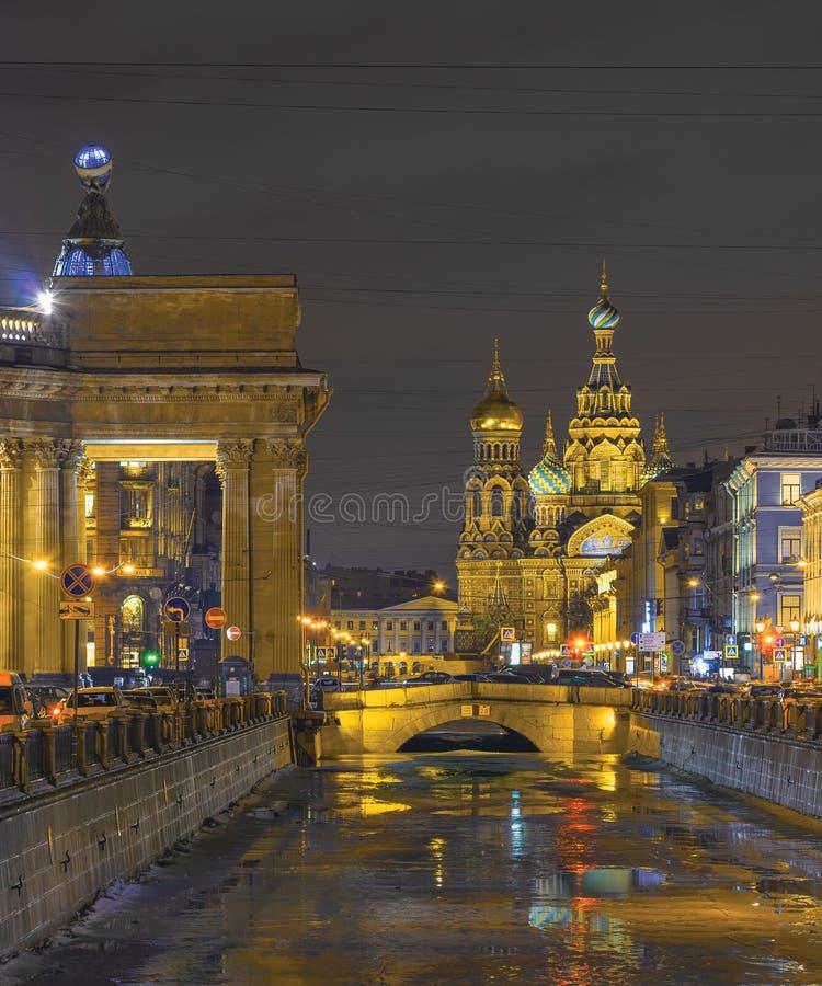 Zimy odwilż w Petersburg, Rosja zdjęcie royalty free