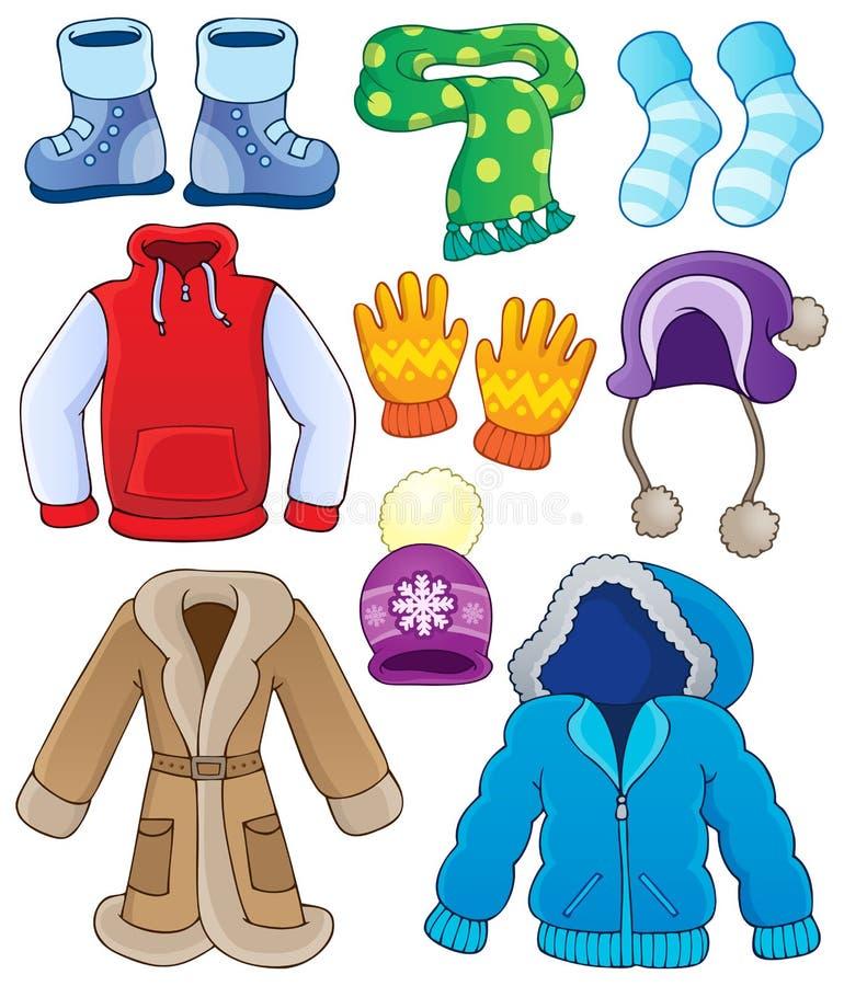 Zimy odzieżowa kolekcja 3 royalty ilustracja