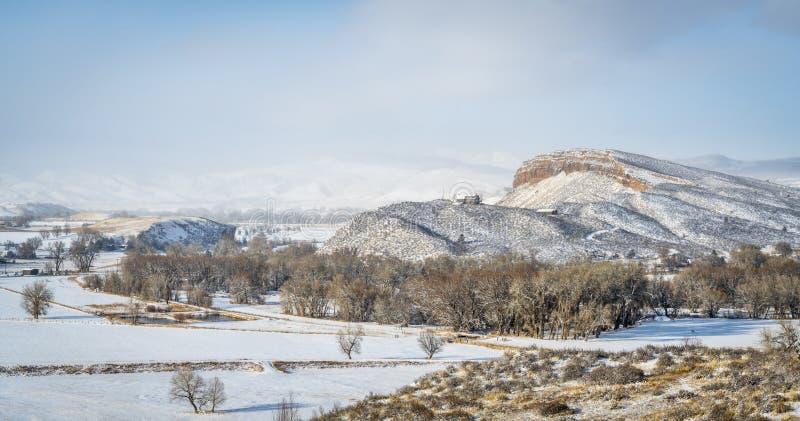 Zimy panorama wiejski Kolorado zdjęcia royalty free