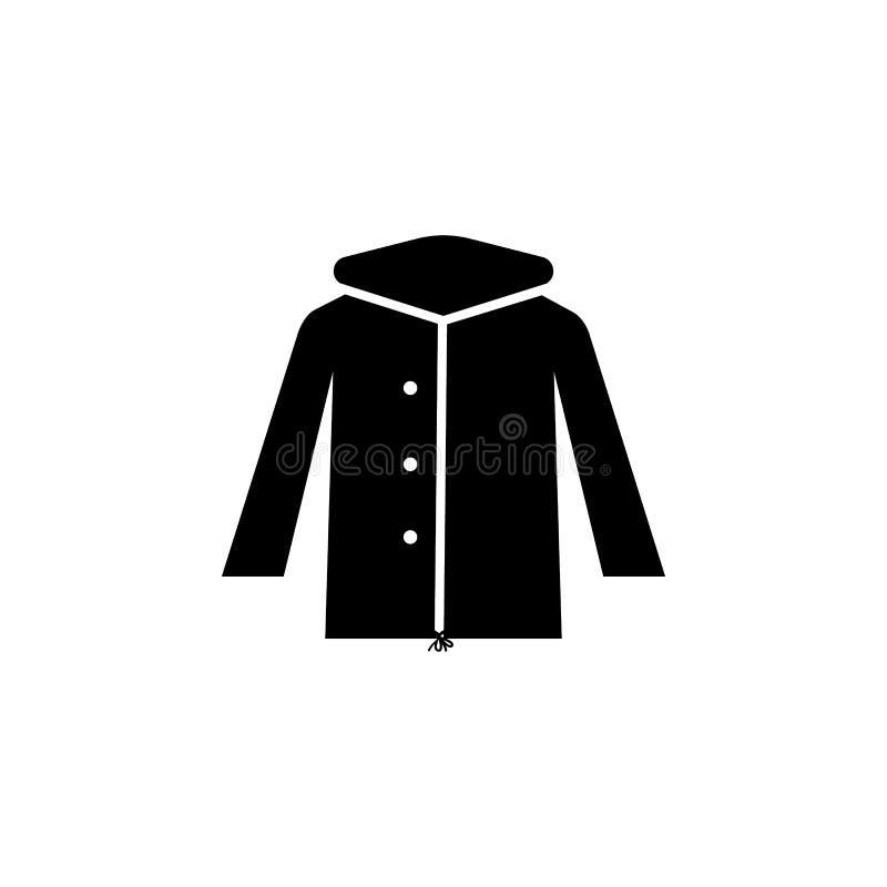 Zimy Parka kurtki ikona ilustracji