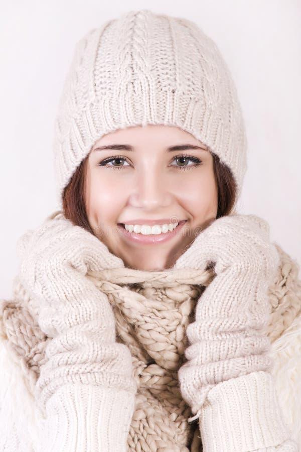 Zimy piękna dziewczyna obrazy stock