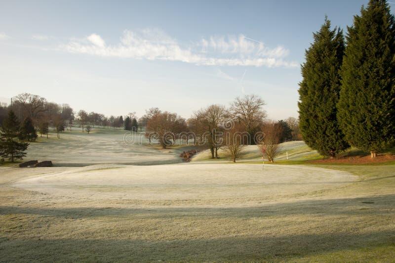 Zimy pole golfowe obraz stock