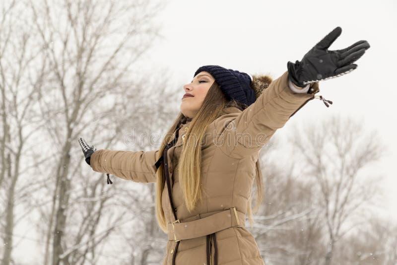Zimy radość zdjęcia royalty free