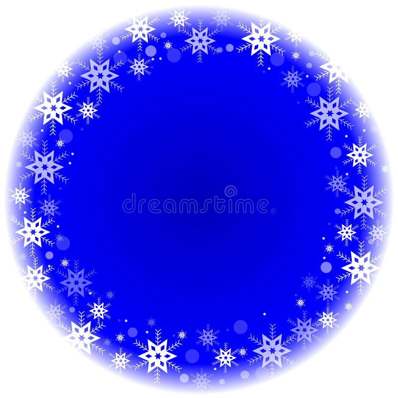 Download Zimy Rama Z Płatkami śniegu Ilustracja Wektor - Ilustracja złożonej z lód, magia: 28952134