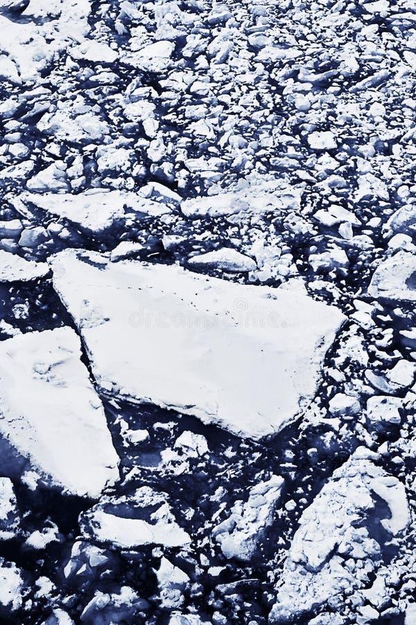Zimy rzeka zdjęcia stock