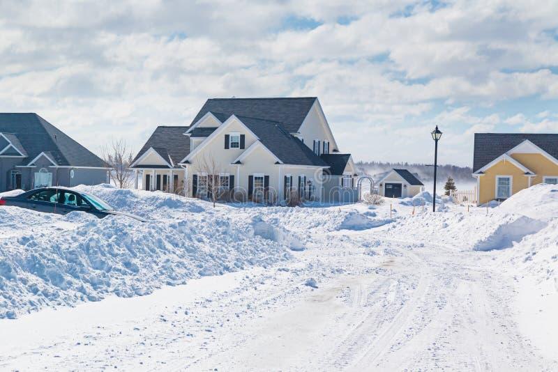 Zimy sąsiedztwo obraz stock