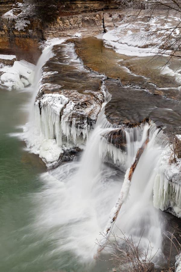 Zimy siklawa w Indiana zdjęcie stock