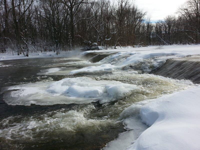 Zimy spływanie obrazy stock