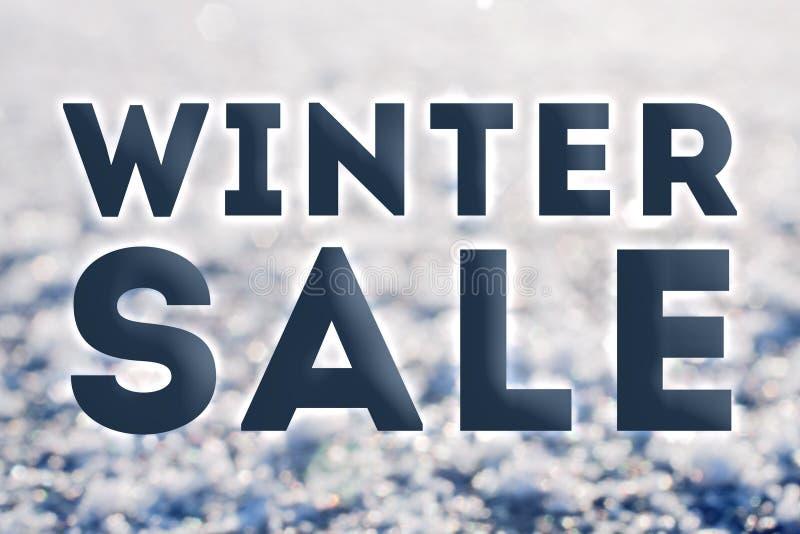 Zimy sprzedaż przygotowywająca reklama zdjęcia stock