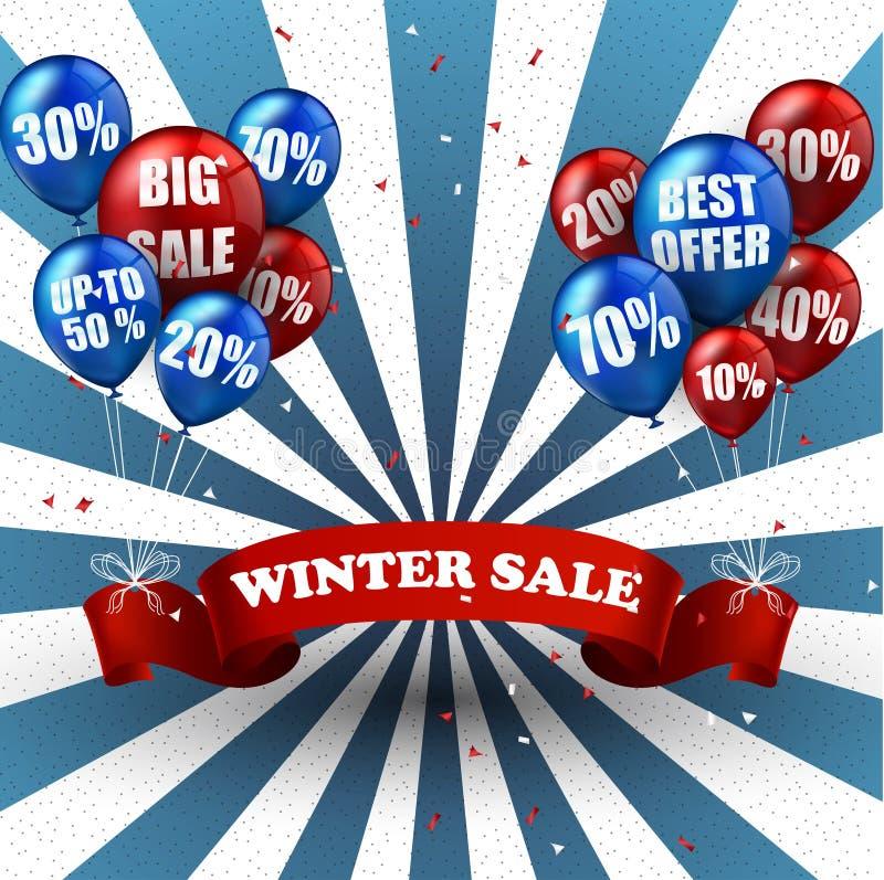 Zimy sprzedaż szybko się zwiększać tło i pomija ilustracji