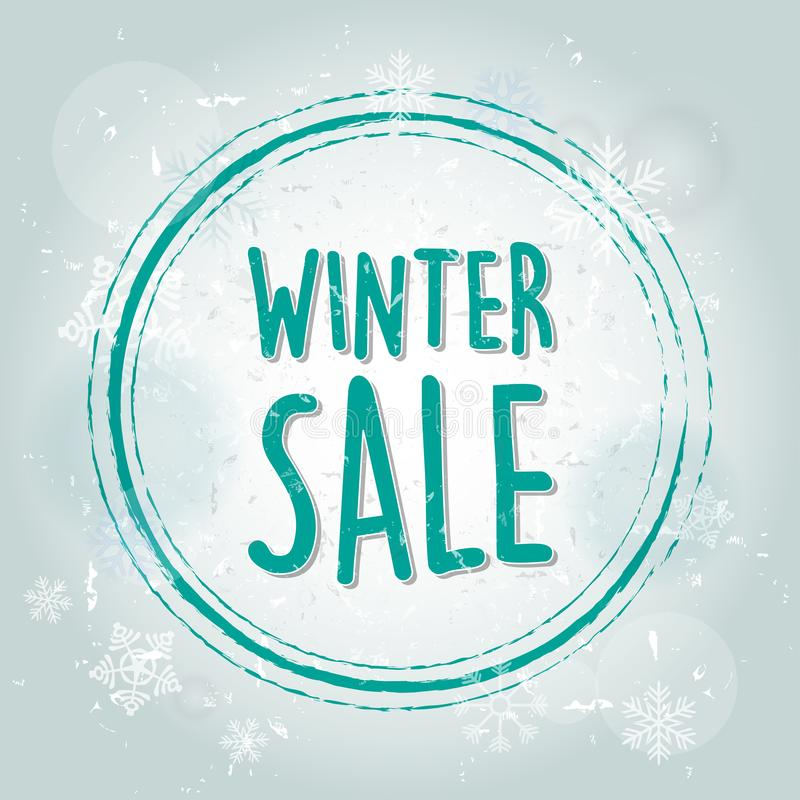 Zimy sprzedaż z płatka śniegu sztandarem ilustracja wektor