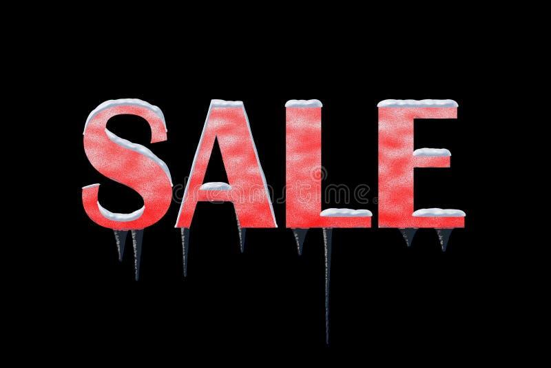 Zimy sprzedaży grafika na Czarnym tle fotografia royalty free