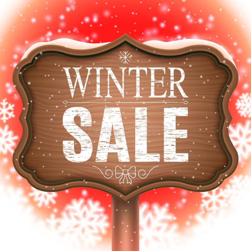 Zimy sprzedaży Signboard ilustracji