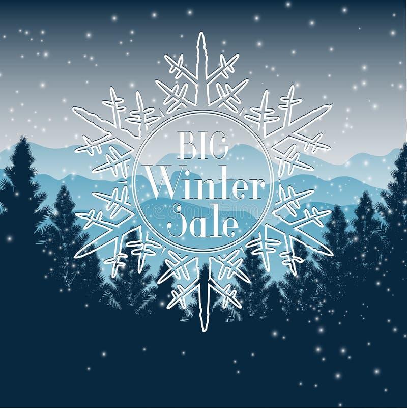 Zimy sprzedaży tło ilustracja wektor