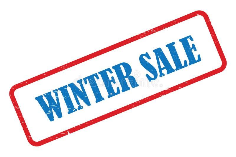 Zimy sprzeda?y znaczek ilustracja wektor