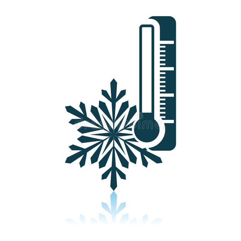 Zimy zimna ikona royalty ilustracja