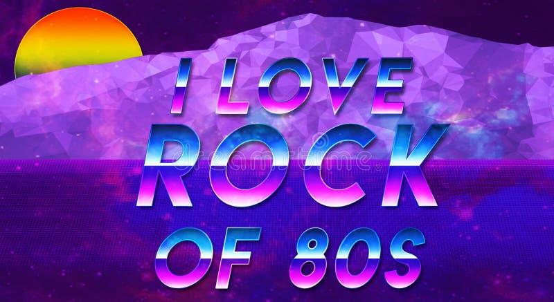 Zin I houdt van het de jaren '80 vaporwave effect koele en galxy nieuwe behang royalty-vrije illustratie