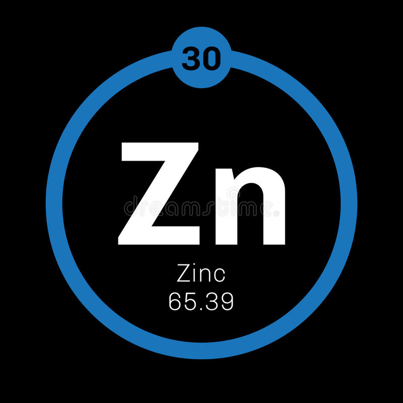Zinc Chemical Element Stock Image Image Of Periods Education