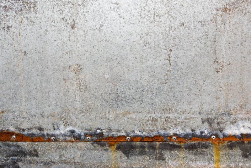 Zinc coated galvanized steel metal sheet plate texture royalty free stock photos