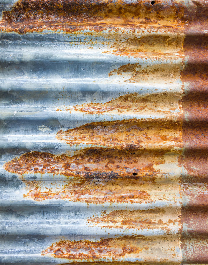 Download Zinc metal roof stock photo. Image of fence, rust, detail - 25748974