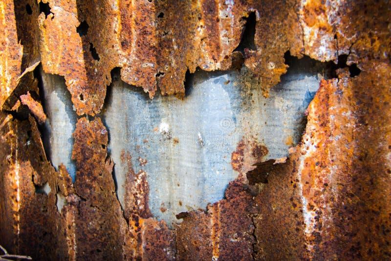 Zinc rouillé de texture photo stock
