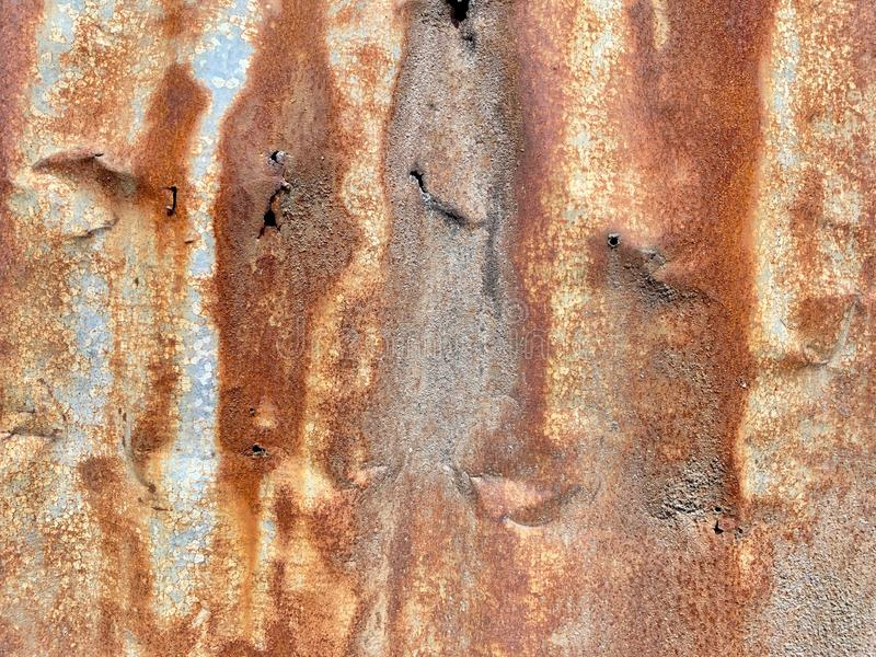 Zinc rust resistant on galvanized iron as natural background stock photos