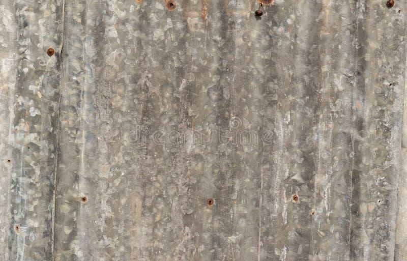 Zinc Rust . Zinc Texture And Background . Old damage rusty zinc plat wall . stock image