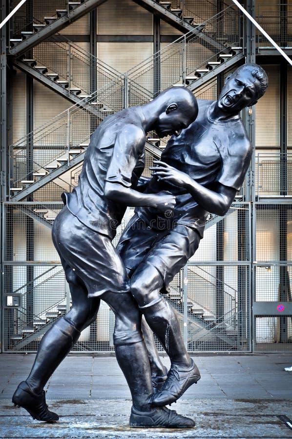 Zinedine Zidane i Marco Matezzari rzeźba obrazy royalty free