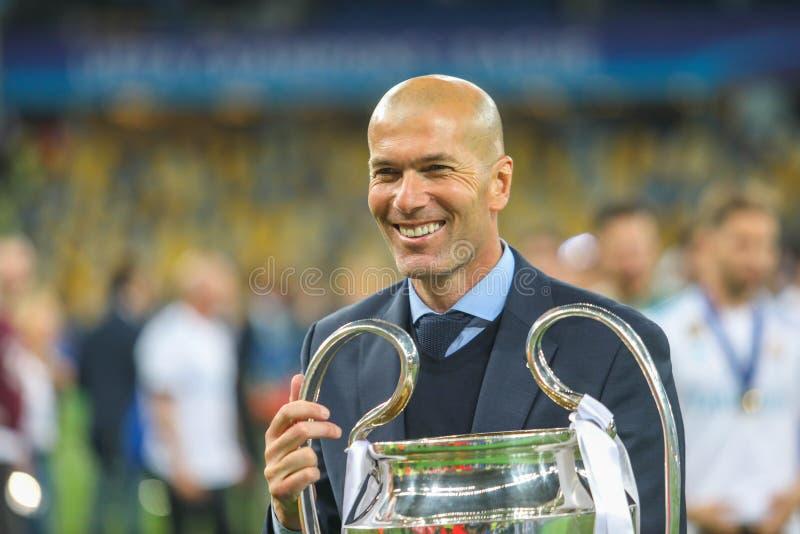Zinedine Zidane Real Madrid fotografía de archivo