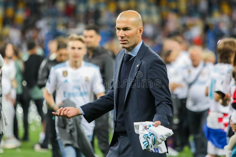 Zinedine Zidane Real Madrid obrazy stock