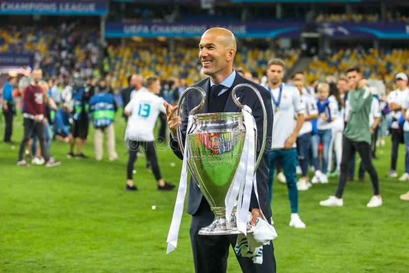Zinedine Zidane Real Madrid foto de archivo