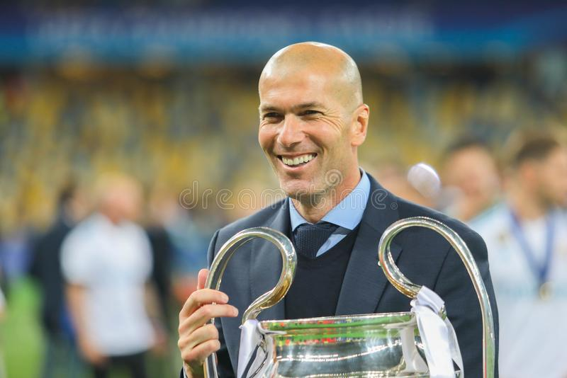 Zinedine Zidane Real Madrid fotografia royalty free
