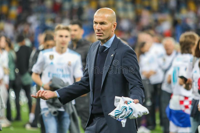 Zinedine Zidane Real Madrid obraz stock