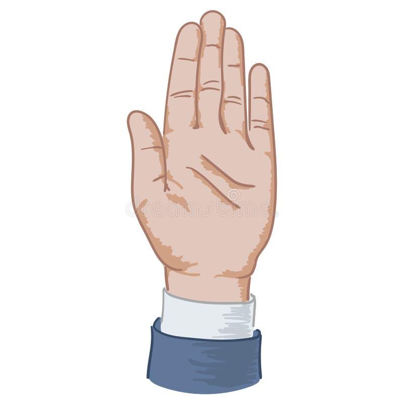 Zing omhoog hand royalty-vrije illustratie