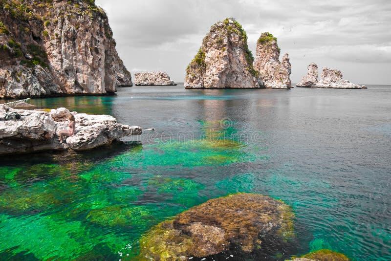 Zingaro-natürlicher Vorbehalt, Sizilien stockfotos