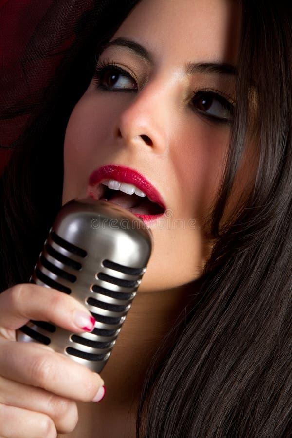 Zingend Meisje royalty-vrije stock foto