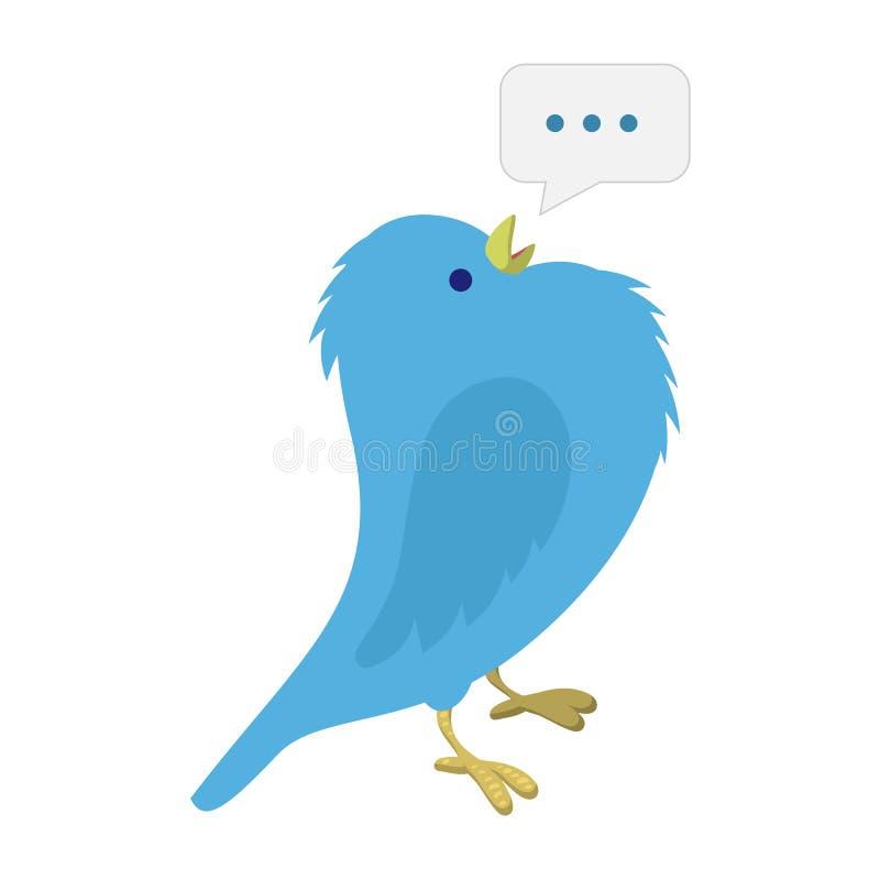 Zingende blauwe vogelillustratie royalty-vrije illustratie