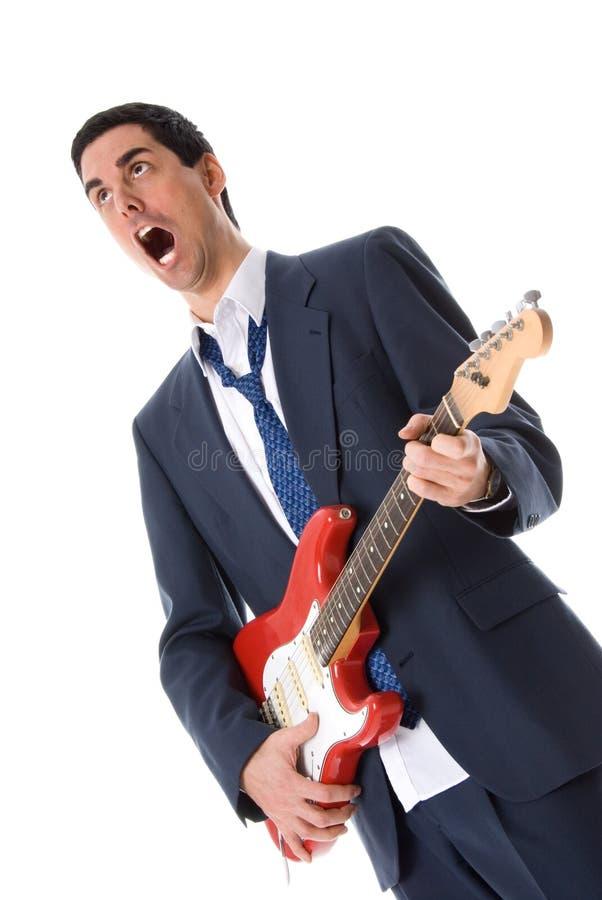 Zingende mens stock fotografie