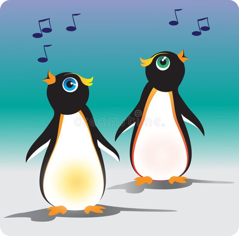 Zingende Pinguïnen stock foto's