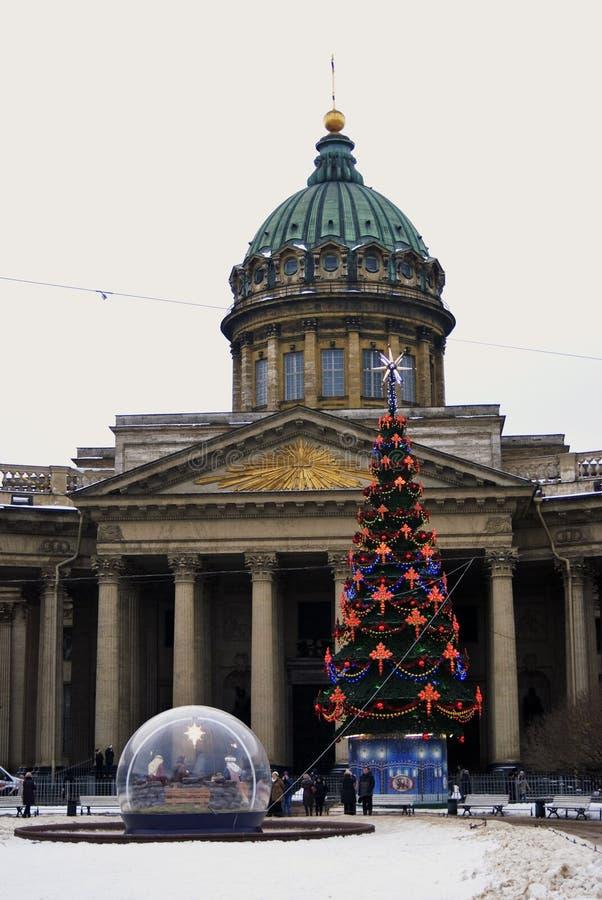 Zinger företagshistorisk byggnad på den Nevsky utsikten i St Petersburg, Ryssland royaltyfria bilder