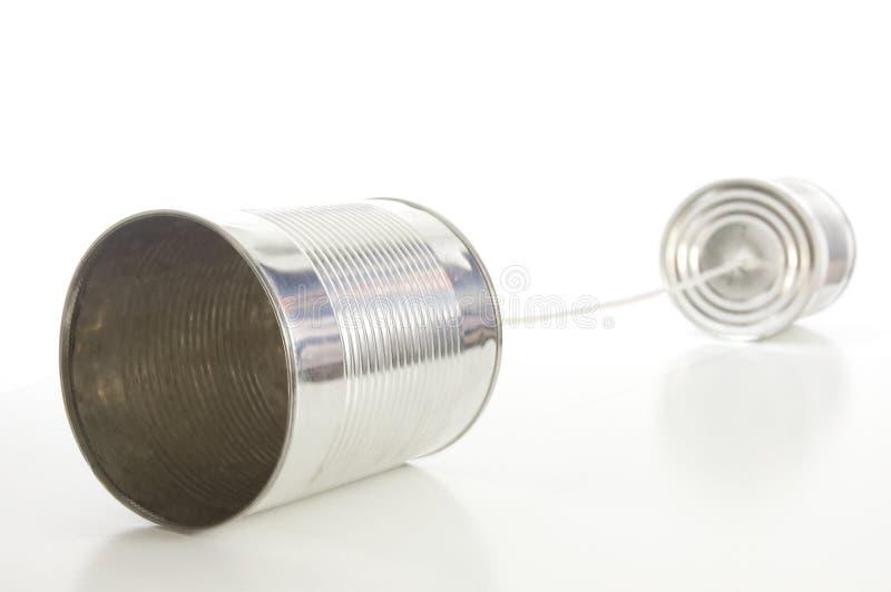 Zinn Oder Kann Telefonieren Lizenzfreie Stockfotografie