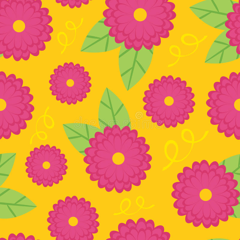 Download Zinnia seamless background stock vector. Illustration of blooming - 25612979