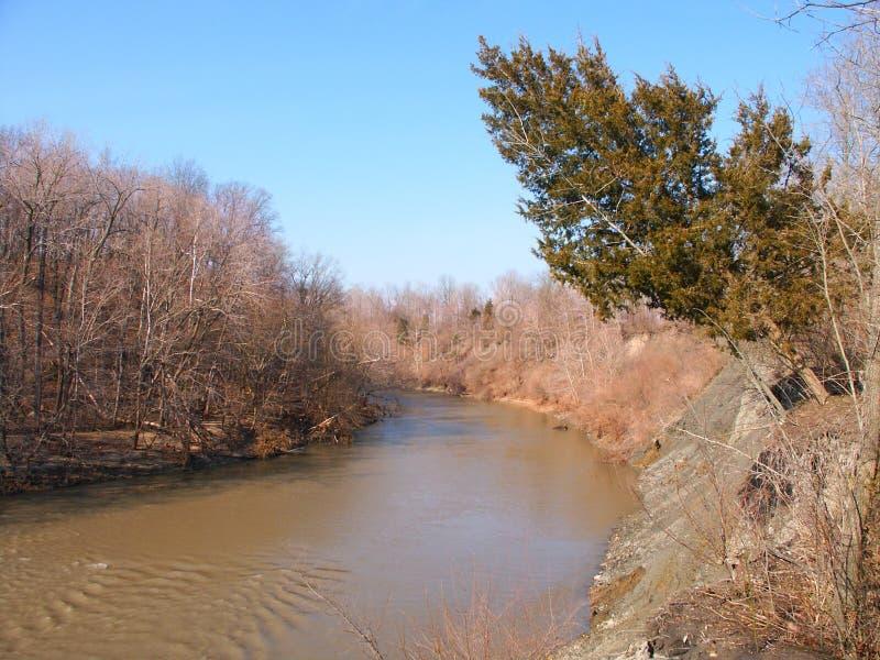 Zinnoberrot-Fluss- Illinois lizenzfreies stockbild